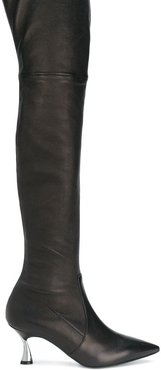 heeled over the knee boots - Black