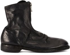 soft zip front ankle boots - Black