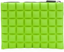 chocolate bar quilted purse - Green