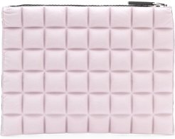 chocolate bar quilted purse - PINK