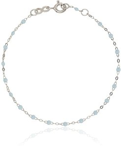 18k white gold blue bracelet