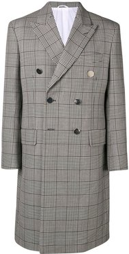 check double-breasted coat - Grey