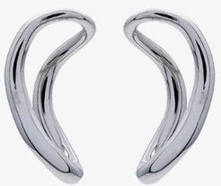 sterling silver small slide earrings