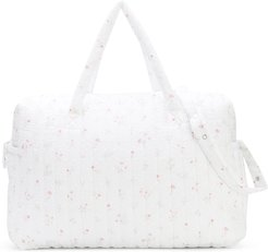 floral printed changing bag - White