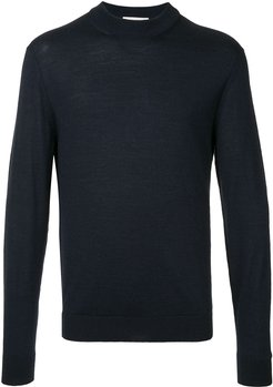 long-sleeve fitted sweater - Blue