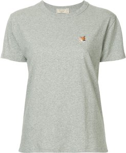fox patch T-shirt - Grey