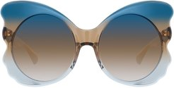 Special oversized sunglasses - Blue