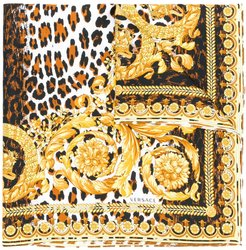 printed neck scarf - Yellow