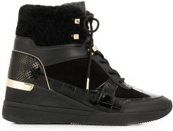 heeled hi-top sneakers - Black