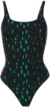 printed Hapuna swimsuit - Black