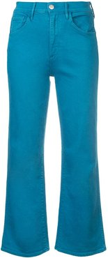 cropped straight-leg jeans - Blue