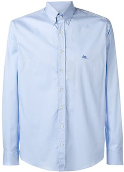 casual slim-fit shirt - Blue