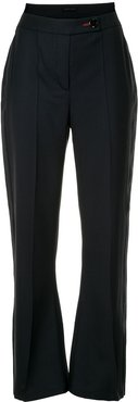 high rise flared trousers - Blue