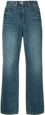 wide leg straight jeans - Blue