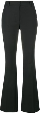 flared tailored trousers - Black