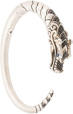 Naga Brushed Kick sapphire and spinel cuff - SILVER