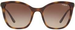 oversized tinted sunglasses - Brown