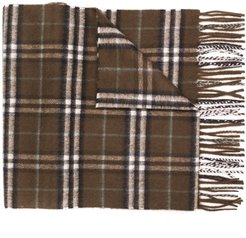 Check Cashmere Scarf - Brown