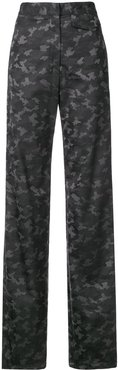 camouflage print trousers - Grey