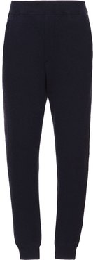 Wool and cashmere jogging pants - Blue