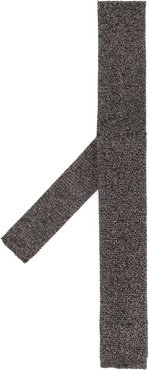 knitted tie - Brown