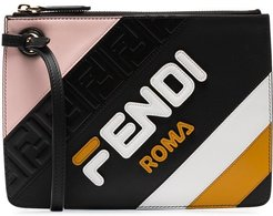 Fendi Mania Triplette XS leather clutch bag - Black
