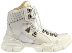 Flashtrek high-top sneaker with wool - White