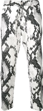patterned skinny jeans - White