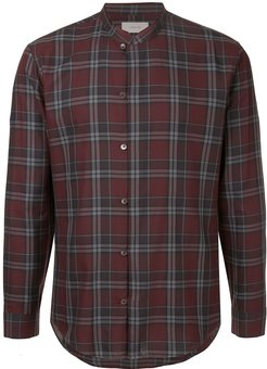 checked print shirt - Red