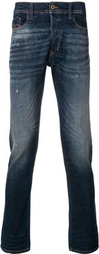 distressed slim fit jeans - Blue