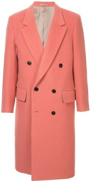 longline doublebreasted coat - PINK