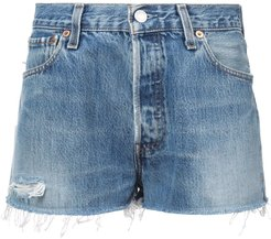 faded shorts - Blue