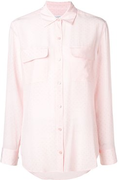 double chest pocket shirt - PINK