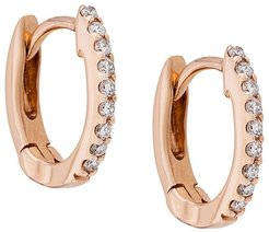 diamond and 14kt rose gold DRD huggies