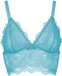 lace bra - Blue