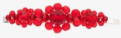red large crystal flower hair clip