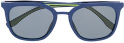 square frame sunglasses - Blue