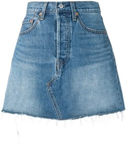 fitted denim skirt - Blue