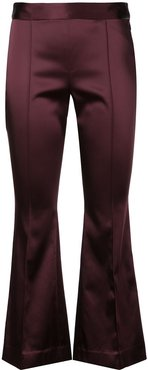 cropped flared trousers - PURPLE