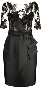 panelled fitted dress - Black