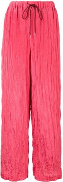 Wavy wide leg trousers - PINK