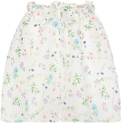 Wild Card floral paper bag shorts