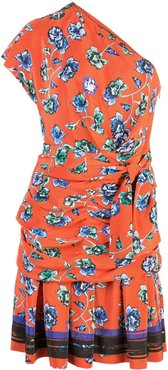 French floral print dress - Red