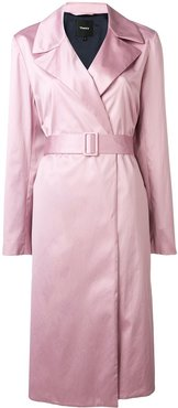 belted duster coat - PINK