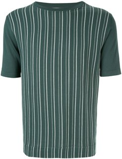 striped T-shirt - Green