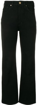mid rise straight trousers - Black