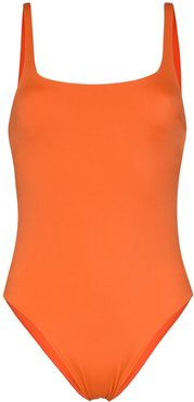 cutout swimsuit - ORANGE
