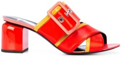 buckled mules - Red