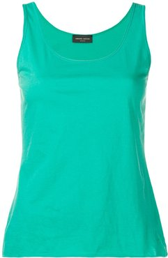 scoop neck tank top - Green