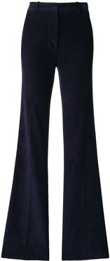 high waisted flare trousers - Blue